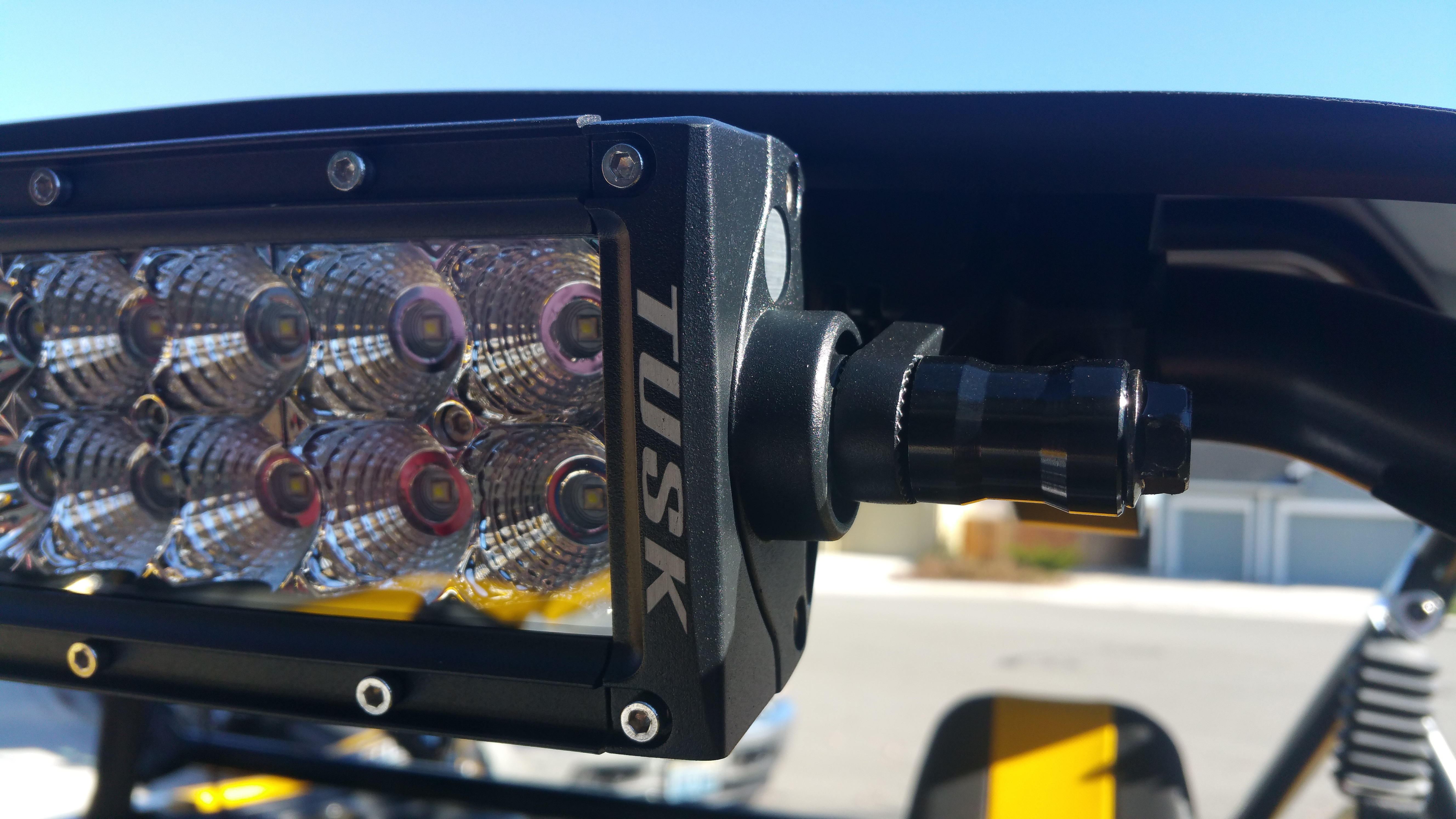 """Installing a 30"""" LED light bar-20151107_100453.jpg. I routed the wiring  harness ..."""